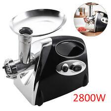 New 2800W Electric Meat Mincer Grinder Sausage Maker Filler Machine Tool black