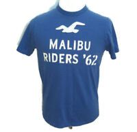 HOLLISTER Mens (Size Large) Blue Short Sleeve T-Shirt Malibu Surf Riders Cotton