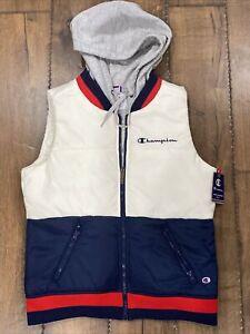 🔥Champion Women's Athletics Stadium Gear Puffer Vest Hoodie Rare Color Way Sm🔥
