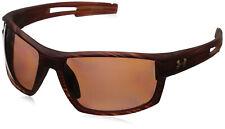 Under Armour Ua Mens Captain Polarized Sunglasses Wood Grain Frame Brown Lens