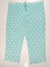 Secret Treasures PLUSH Lounge SLEEP Pajama PANTS 3XL 22W 24W Mint Blue Polka Dot