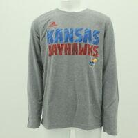 adidas Kansas Basketball Jayhawks Youth Climalite Long Sleeve Tee