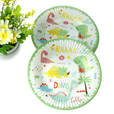 6Pcs Dinosaur theme party decoration disposable tableware paper plate dishes Ro
