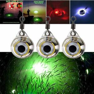 Underwater LED Night Light Bulb Fishing Lure Glow Attracting Fish Fishing Bait