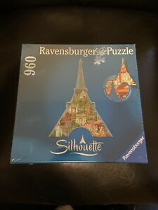 🔵Ravensburger Silhouette 960 Piece Jigsaw Puzzle Eiffel Tower Paris New Sealed