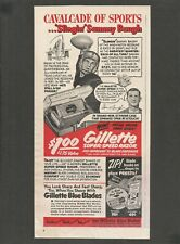 GILETTE Super-Speed Razor and 10 Blue Blade Dispenser - 1951 Vintage Print Ad