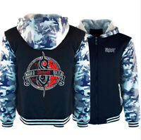Men's Slipknot Hoodie Fleece Coat Winter Full Zip Band's Jacket Warm Sweatshirt