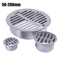 Stainless Steel Balcony Drainage Roof Round Floor Drain-Cover Rain Pipe Cap-New