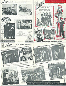 Bill Neff Whirlwind of Wonders Brochure-1961-Four Pages-Mulitple Photos-vFINE-aF