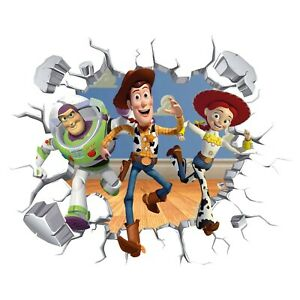 3D Toy Story Hole In Wall Sticker Art Decal Decor Kids Bedroom Decoration