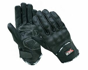 Vented Leather Motorbike Motorcycle Gloves Knuckle Shell Protection Summer Armor