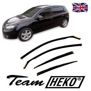 SUN SHADE + Wind Deflectors for VW GOLF mk6 hatchback 2008-2013 4pcs HEKO TINTED