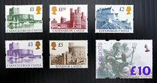 GB 1992/4 GOLD TESTA CASTELLI COMPLETO (5) & £ 10 Britannia unmounted Nuovo di zecca FP4533