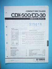 Servicio Manual de instrucciones para YAMAHA cdx-500/cd-30, original