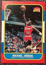 1986 Fleer Michael Jordan RC Very Nice Reprint #57 Chicago Bulls Qty