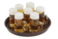 Serviertablett Bierglasträger Hellgrau Oval verstärkter Kunststoff Gastlando