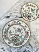 "Two Vintage Coalport Plates Indian Tree Pattern (8.2"" & 5.5"")"