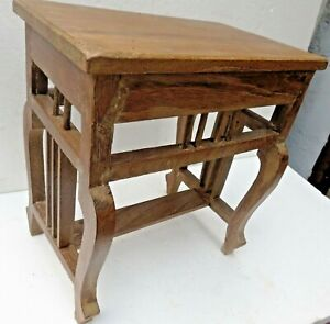 Antique wooden table Small Occasional  /Coffee / Display stand English cut leg