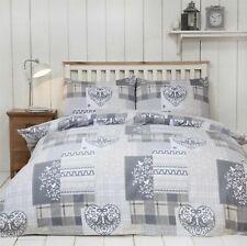 100% Cotton Flannelette Quilt Duvet Cover Bedding Bed Sets Christmas Winter New