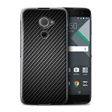 STUFF4 Case/Cover for BlackBerry DTEK60/Carbon Fibre Effect/Pattern/Grey