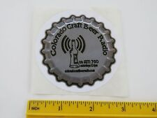 Cool STICKER >> COLORADO Craft Beer RADIO < AM 760 On Saturdays, Denver & Online