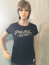 Polo Ralph Lauren Women's T-shirt, Size M, Black, New With Tags, Embroidery,binG