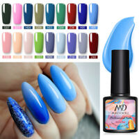 8ml MAD DOLL Soak Off UV Gel Nail Polish Blue Series Nail Art Gel Varnish UV LED