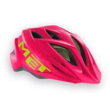 Childrens enduro youth cycle helmet MET Crackerjack Pink Green 52-57cm