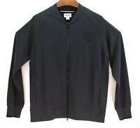 Converse Mens Full Zip Black Sweatshirt Track Jacket Size XL