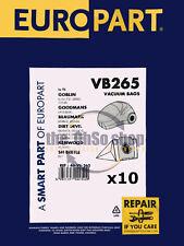 5 X Numatic NVH-180 Aspiradora Hoover Bolsas de Polvo de filtración de doble capa