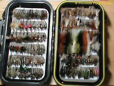60 Preselected Fly Assortment & Fly Box - Trout, Panfish, Crappie