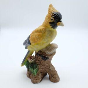 Orange Yellow Black Parrot Cockatoo Ornament figurine.