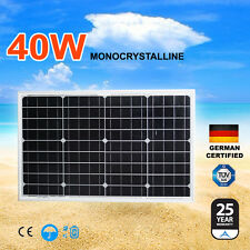 New 12V 40W Mono Solar Panel Kit Generator Caravan Camping Battery Charging