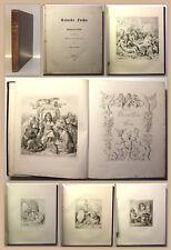Goethe Reineke Fuchs 1846 mit Stahlstichen Klassiker Fabel Tiergeschichte xz