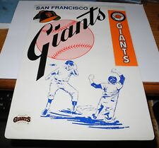 1970's Baseball San Francisco Giants Poster Picture Frame Pin Plaque