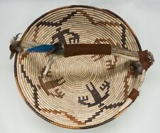 Navajo Style Wedding Basket Large with Antler & Feathers
