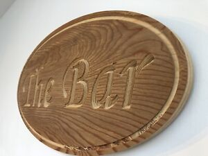 Large Wooden Rustic The Bar Sign, Pub, home bar, man cave, Shed