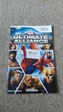 Nintendo wii ultimate alliance instruction booklet manual