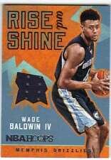 2016-17 Panini Hoops Rise N Shine Memorabilia Jersey #15 Wade Baldwin Grizzlies