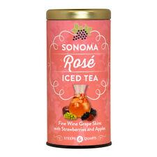 The Republic Of Tea Sonoma Rose Iced Tea, 6 Large Iced Tea Pouches, Strawberry A