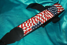 LM Products American Flag Print Guitar Strap, 3 In. Wide, PS24AF