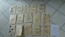 rare 1969 lot 15 patrons Poupée modes et travaux/originaux  PORT GRATUIT!