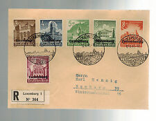 1941 Luxembourg Censored Occupation Cover Stamp Day Cancel to Germany