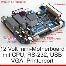 MINI MAINBOARD NX1500 MIT CPU AMD 1500 RS-232 LPT USB 12V BETRIEB PCI RISERCARD