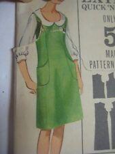 Vintage 60s Butterick 3514 U-SHAPED NECKLINE DRESS JUMPER Sewing Pattern Women