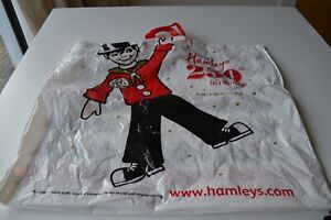 HAMLEYS 250 BIRTHDAY Large PLASTIC store carrier GIFT  BAG  ...Collectable