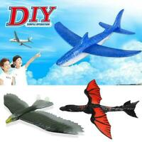 Airplane Hand Launch Throwing Foam Shark Eagle Plane Fun Kids Outdoor Toys H5S9