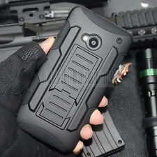 Shockproof Rugged Hybrid Armor Impact Case Hard Tough Cover For HTC One M7+ LCD