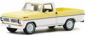 Greenlight 86339 1970 Ford F-100 Pinto Yellow and Pure White 1:43 Scale