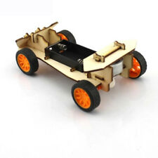 DIY Mini Wooden Electronic Power Vehicle Car Model Kit 4WD Handmade Toys for Kid